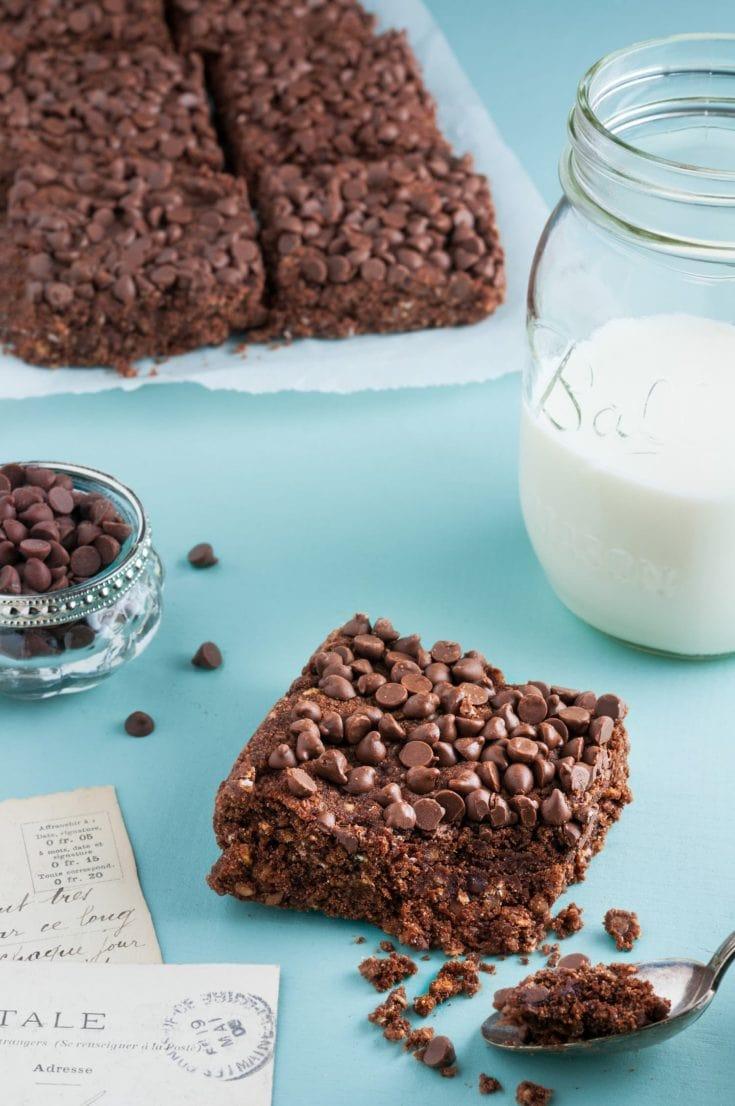 Brownies aux flocons d'avoine | quatresous.fr