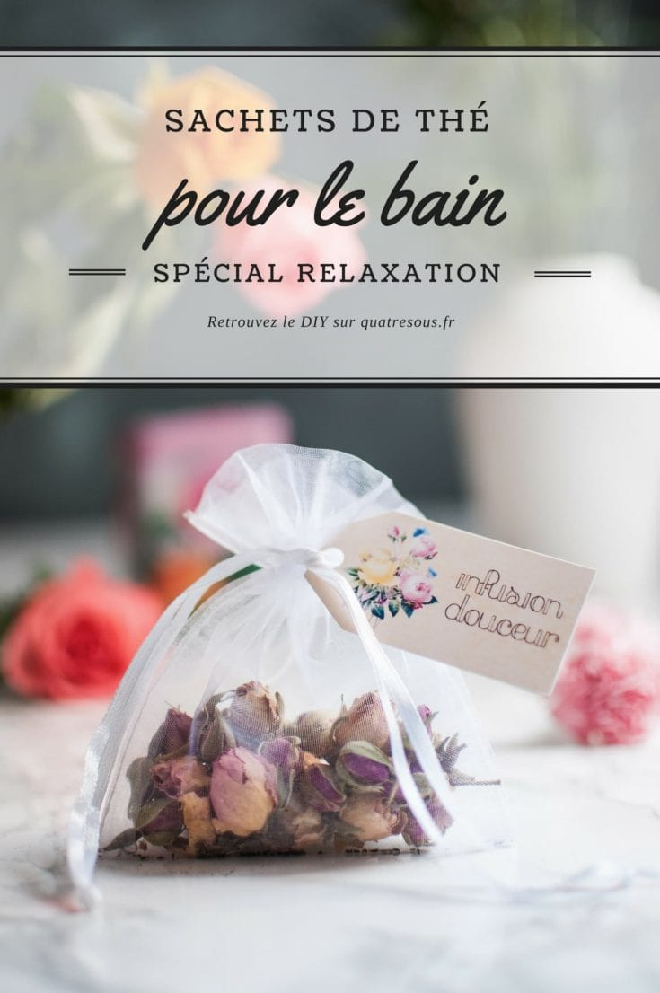 Sachets de thé pour le bain | quatresous.fr