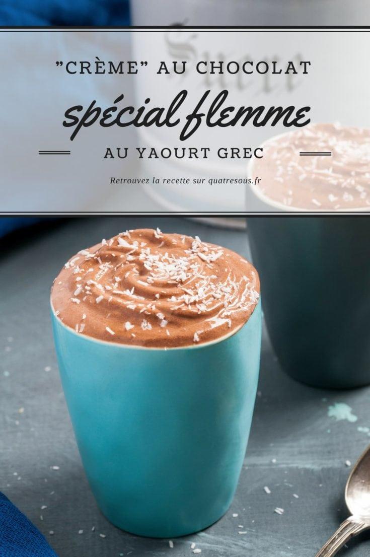 """Crème"" express au chocolat | quatresous.fr"