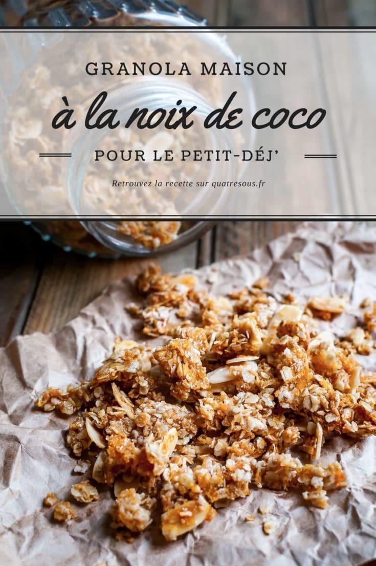 Granola à la noix de coco | quatresous.fr