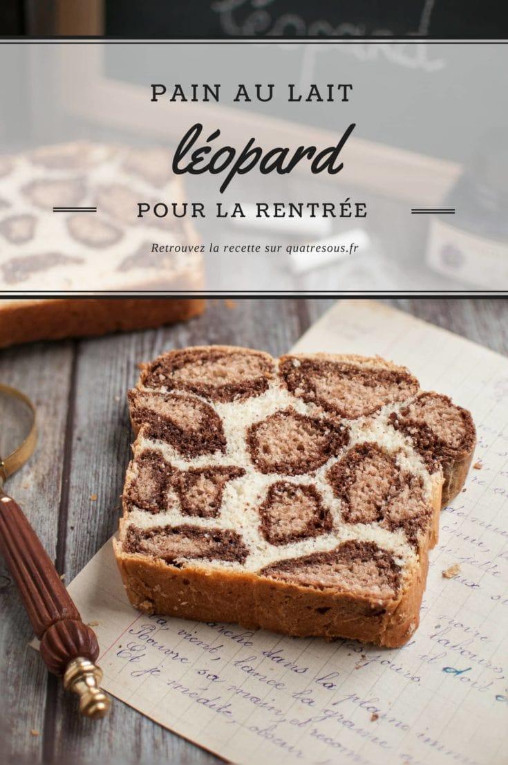 Pain au lait léopard | quatresous.fr