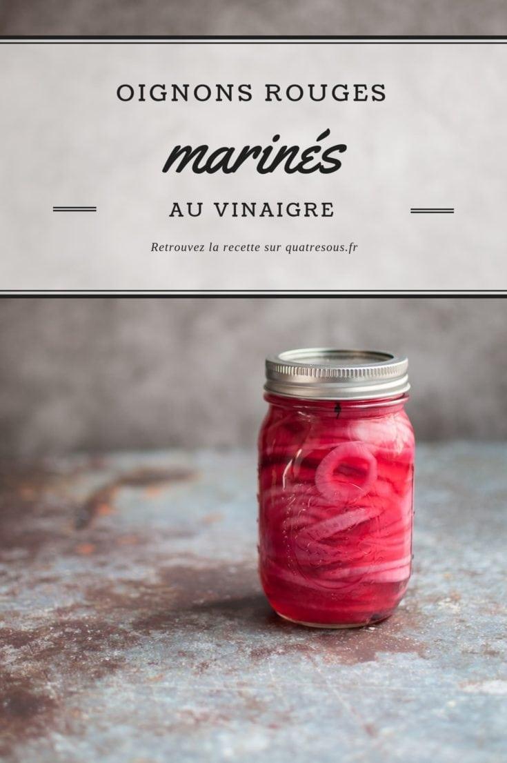 Oignons rouges marinés au vinaigre | quatresous.fr