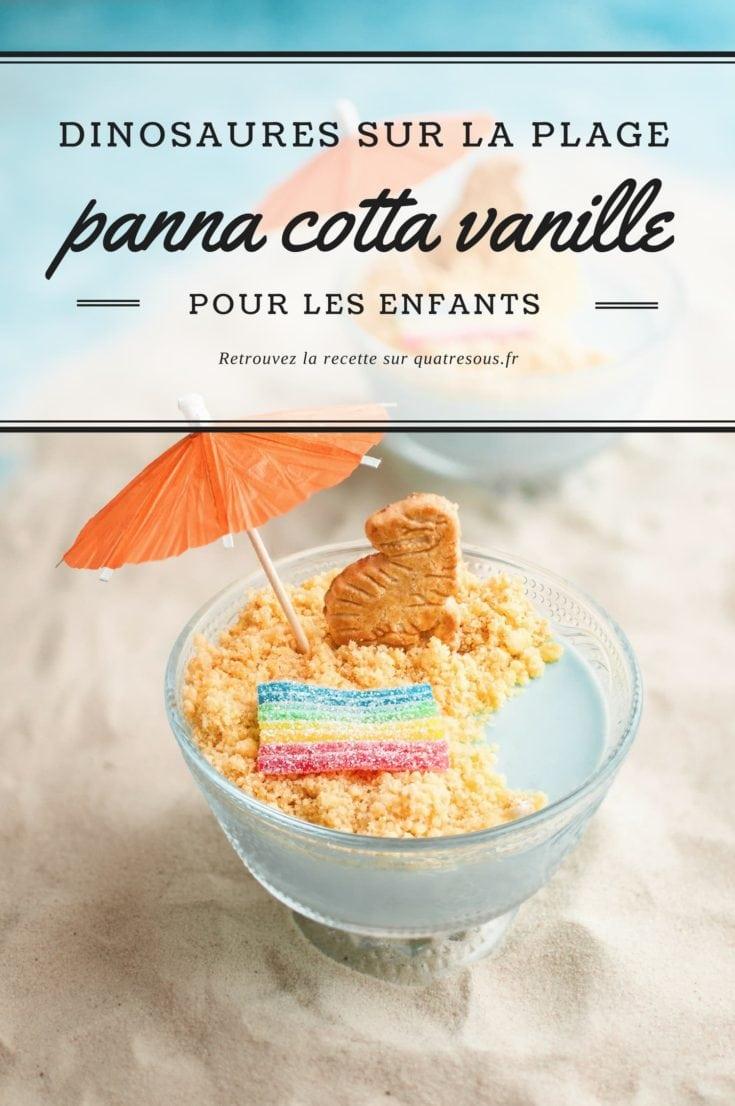 Plage de panna cotta & sable biscuité | quatresous.fr