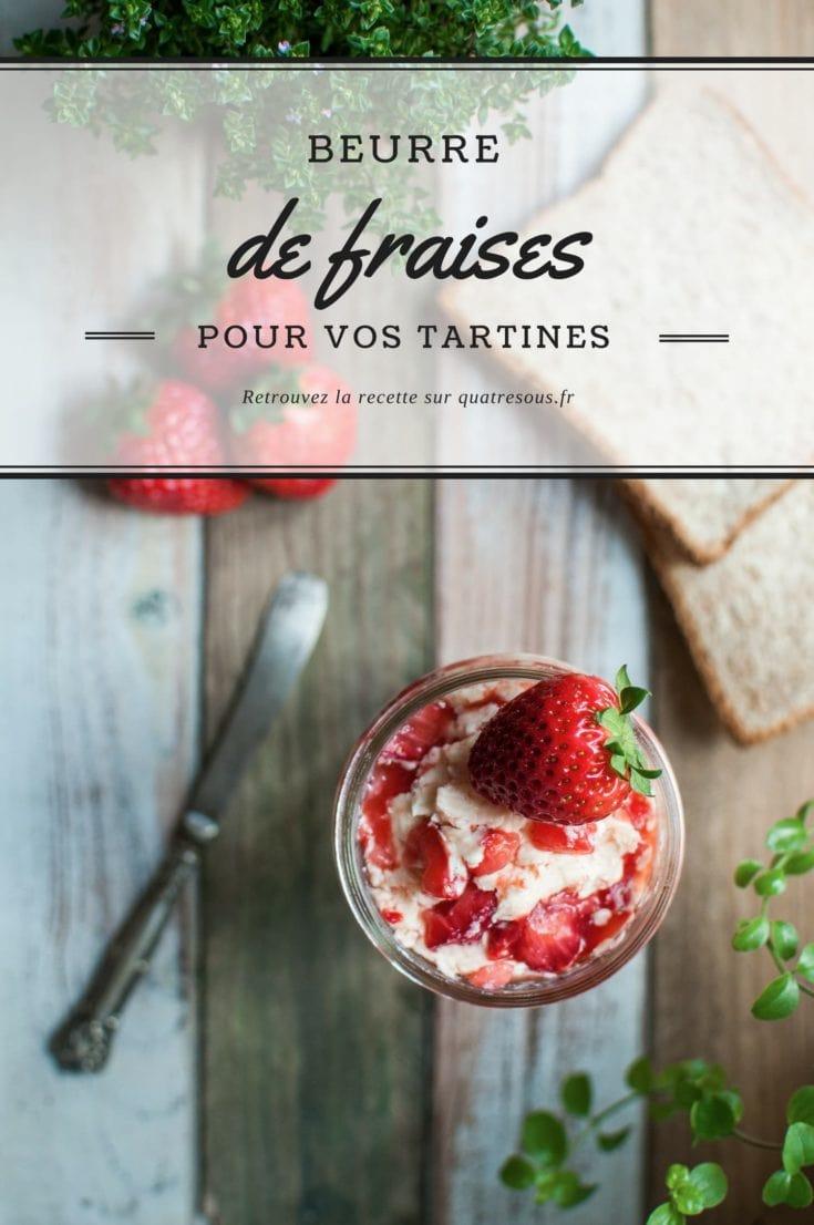 Beurre de fraises | quatresous.fr