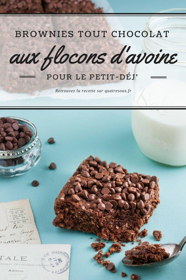 Brownies aux flocons d'avoine   quatresous.fr