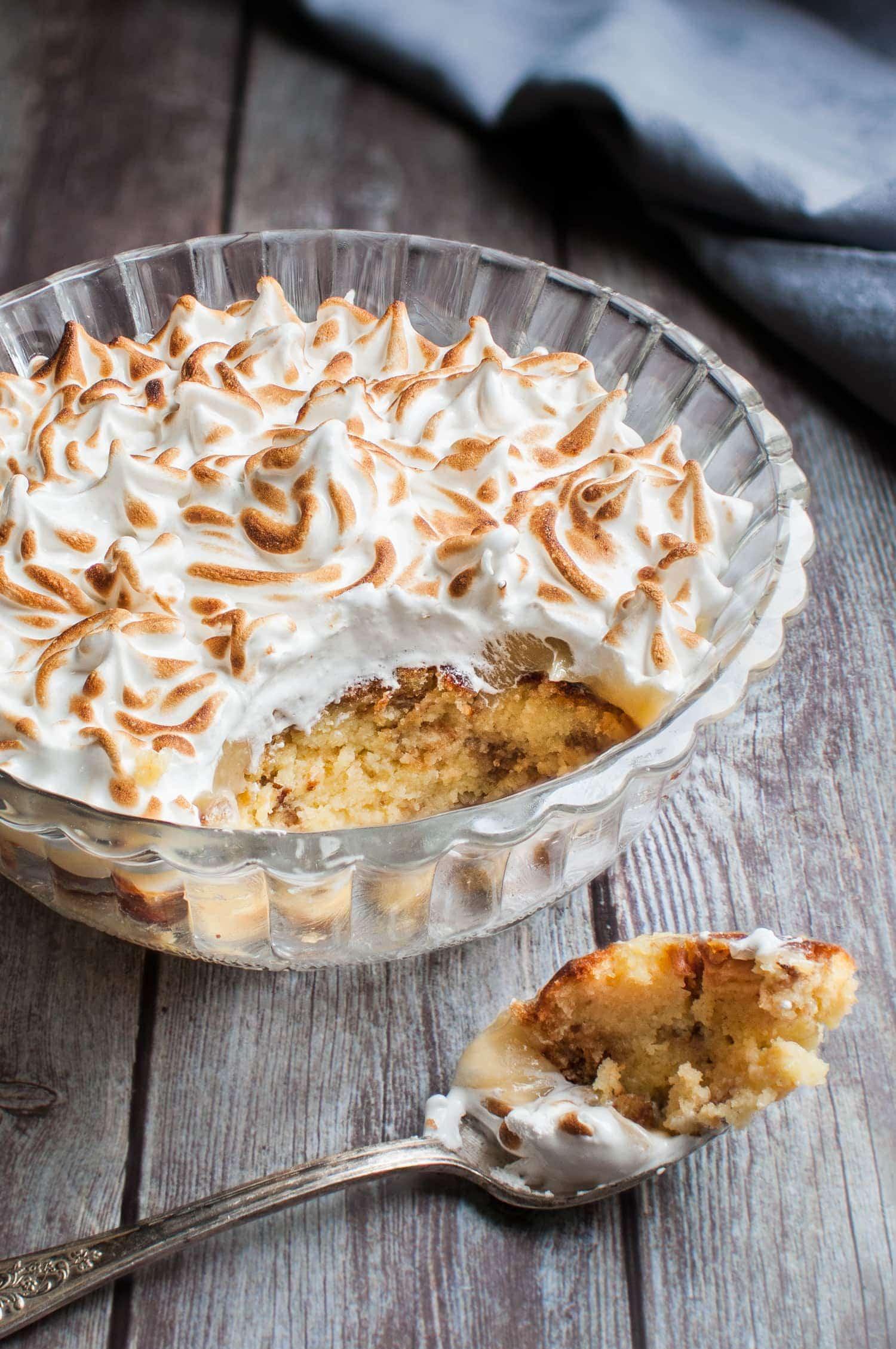 Pudding au citron meringué | quatresous.fr