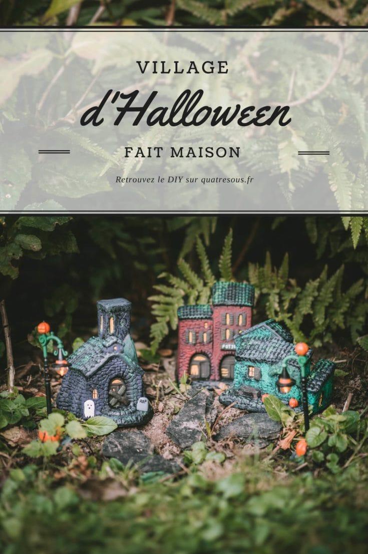 Village d'Halloween fait maison   quatresous.fr