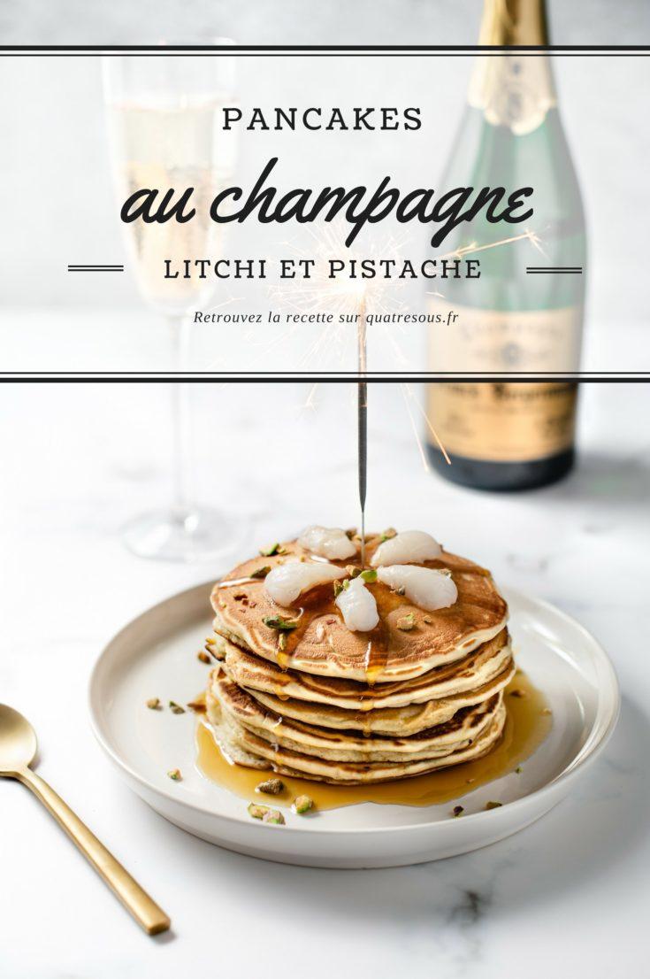 Pancakes au champagne, litchis et pistaches | quatresous.fr