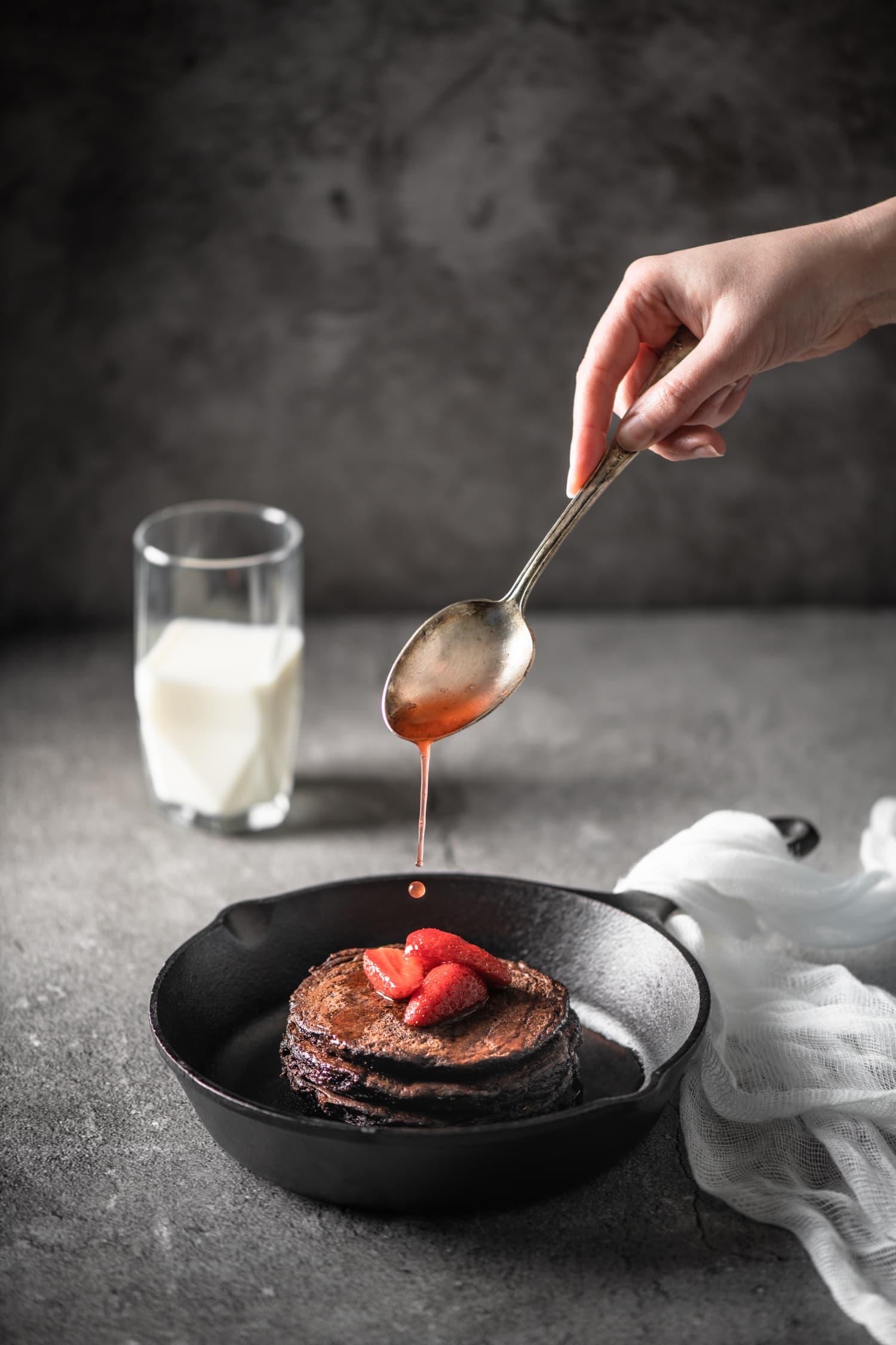 Pancakes healthy au chocolat | quatresous.fr